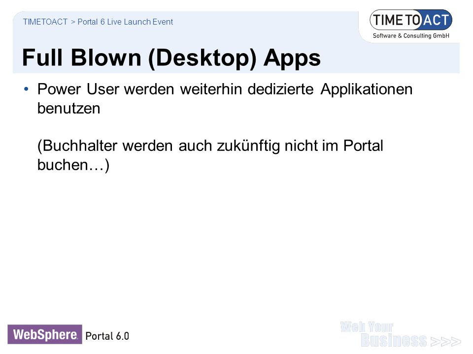 Full Blown (Desktop) Apps