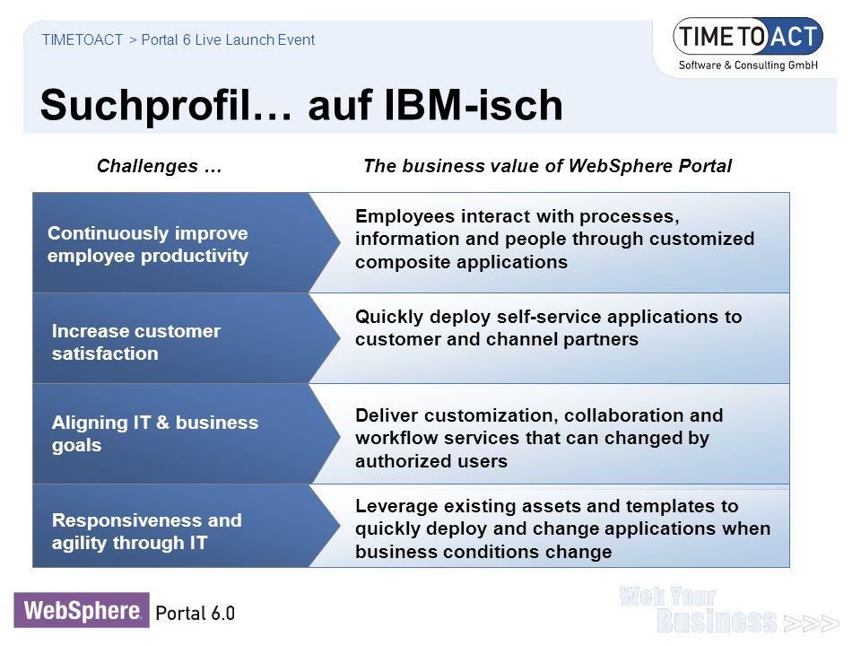 Suchprofil… auf IBM-isch