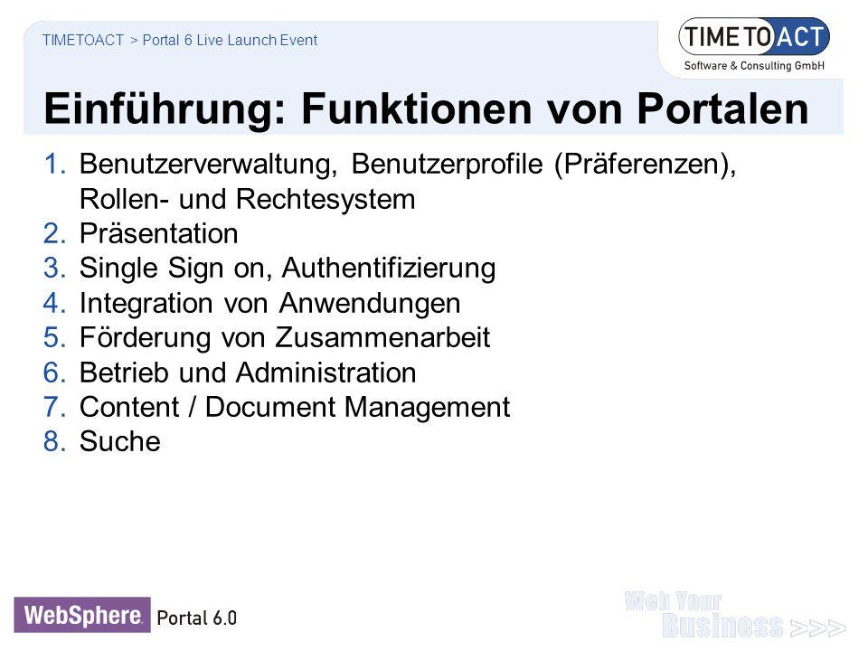 Einführung: Funktionen von Portalen