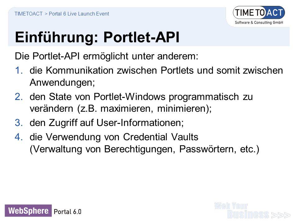 Einführung: Portlet-API
