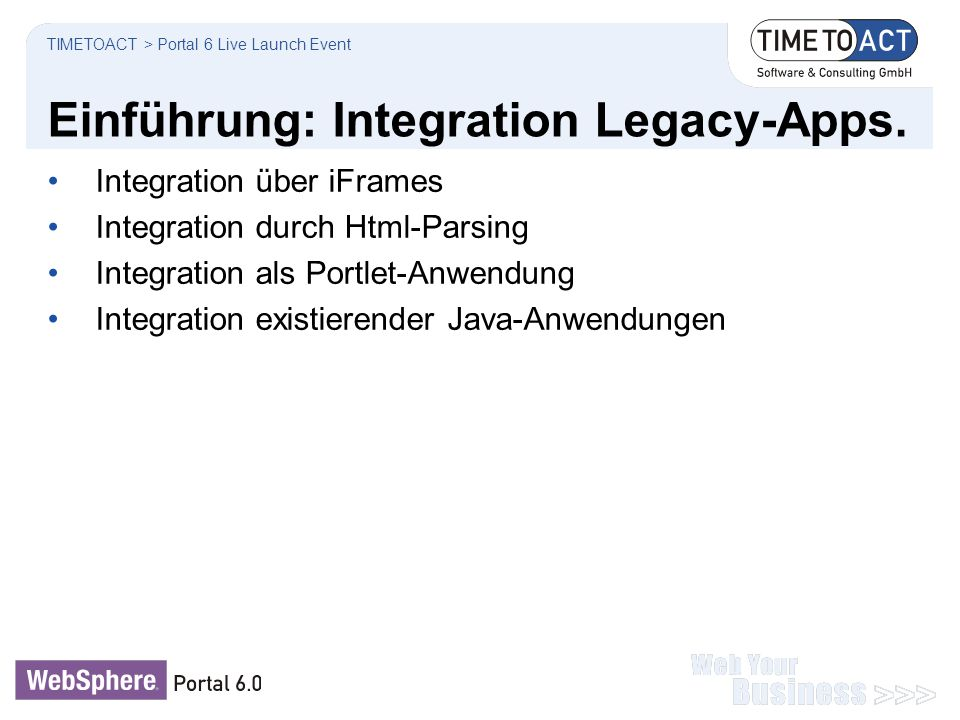 Einführung: Integration Legacy-Apps.