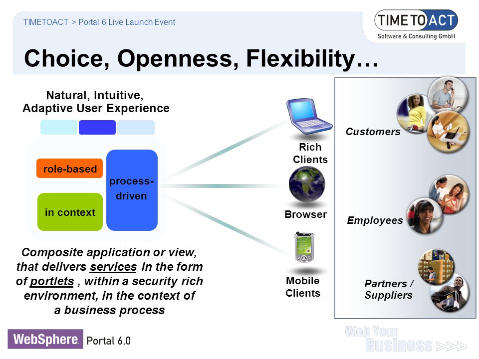 Choice, Openness, Flexibility…