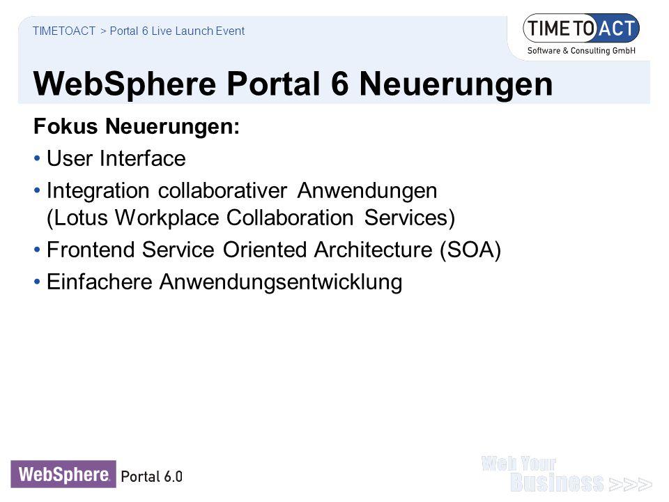 WebSphere Portal 6 Neuerungen