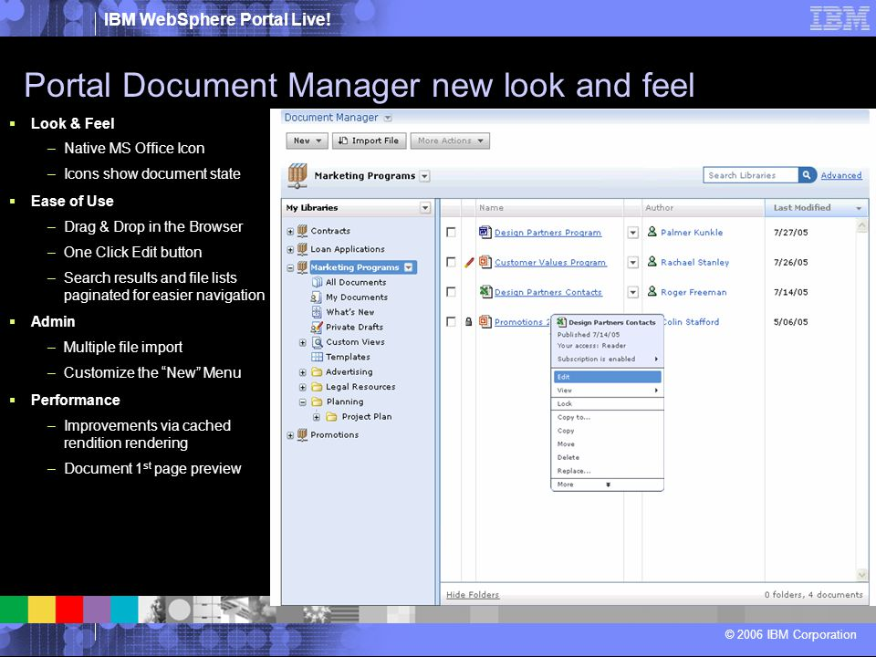 Portal Document Manager new look and feel
