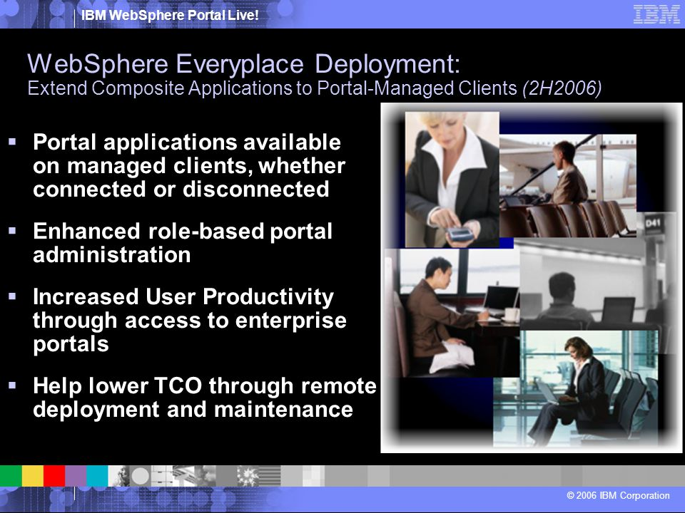 WebSphere Everyplace Deployment: Extend Composite Applications to Portal-Managed Clients (2H2006)