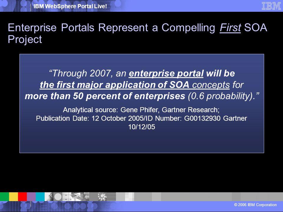 Enterprise Portals Represent a Compelling First SOA Project
