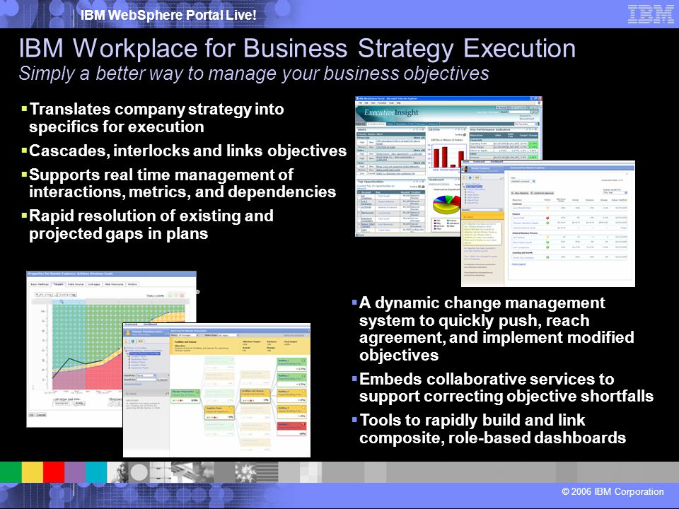 IBM Workplace for Business Strategy Execution Simply a better way to manage your business objectives