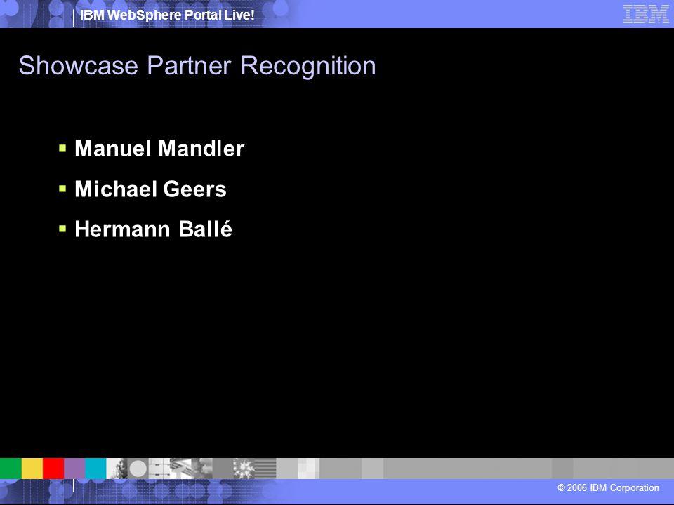 Showcase Partner Recognition
