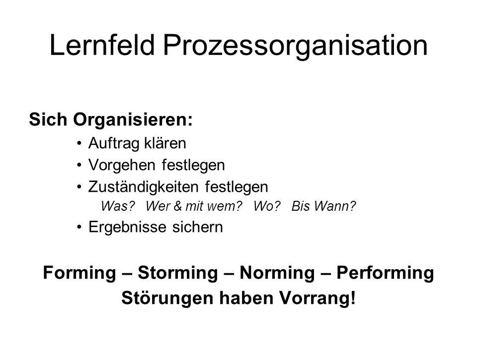 Lernfeld Prozessorganisation