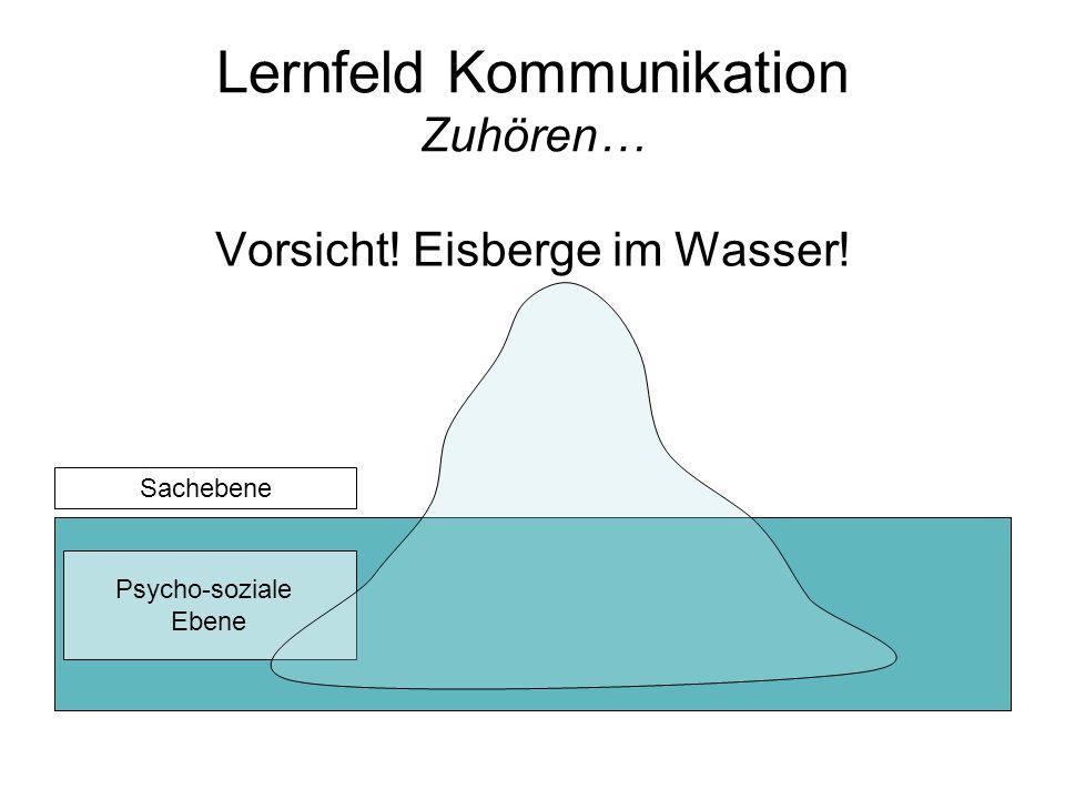 Lernfeld Kommunikation Zuhören…