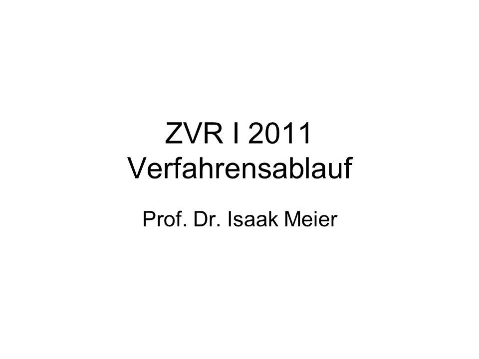 ZVR I 2011 Verfahrensablauf