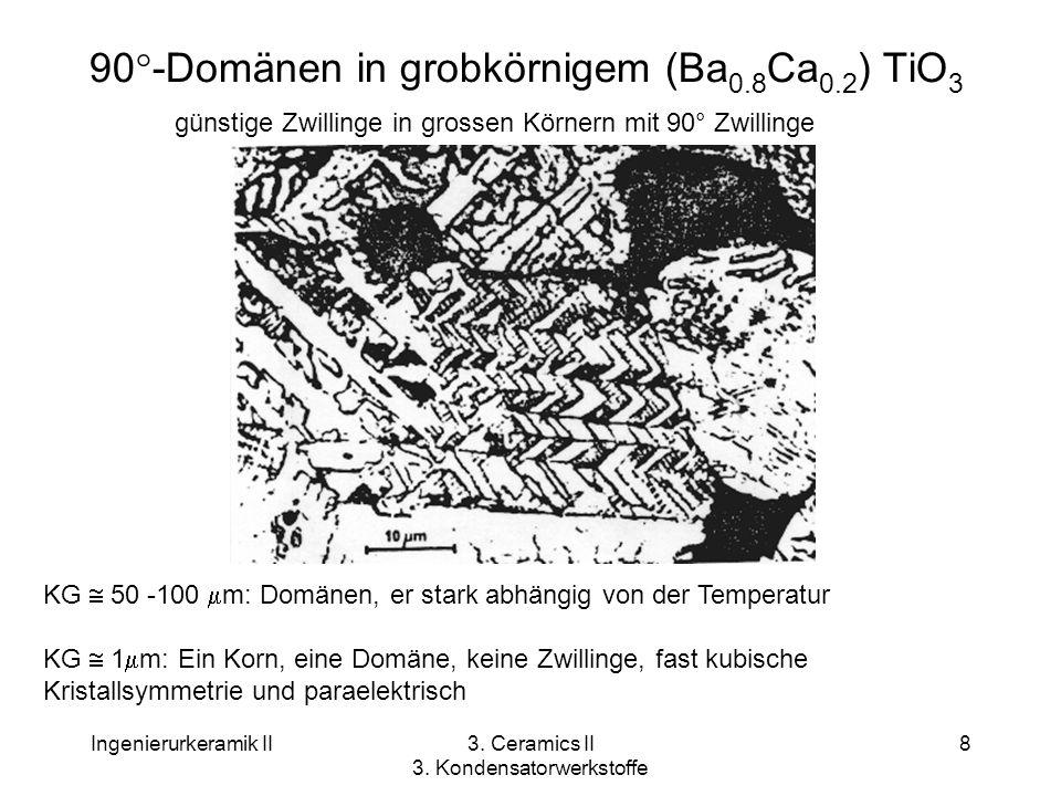 90°-Domänen in grobkörnigem (Ba0.8Ca0.2) TiO3