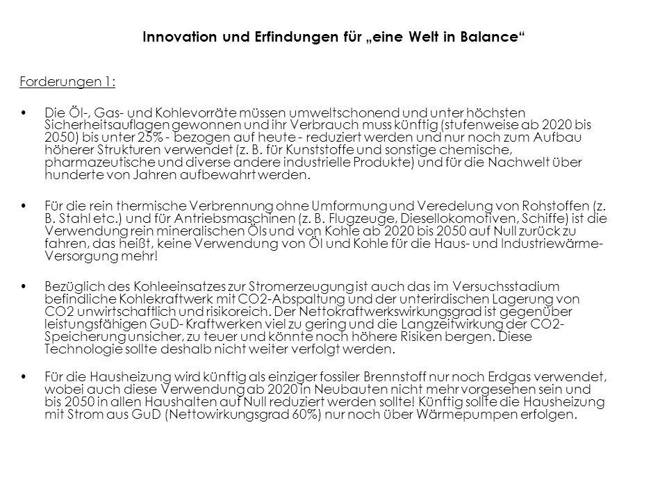"""Innovation und Erfindungen für """"eine Welt in Balance"""