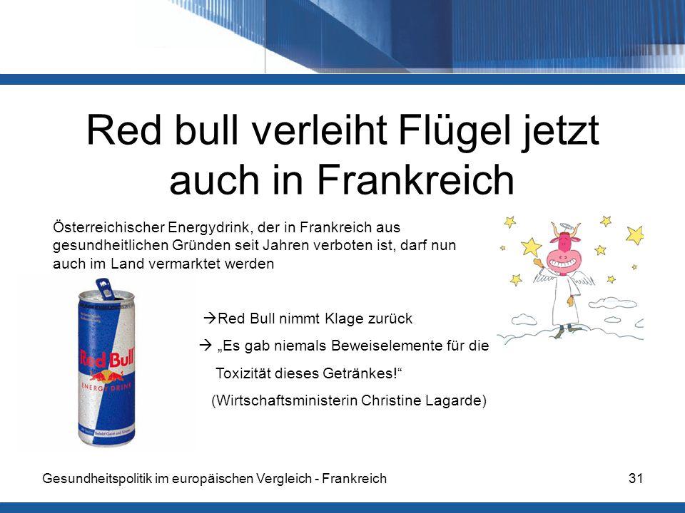 Red bull verleiht Flügel jetzt auch in Frankreich