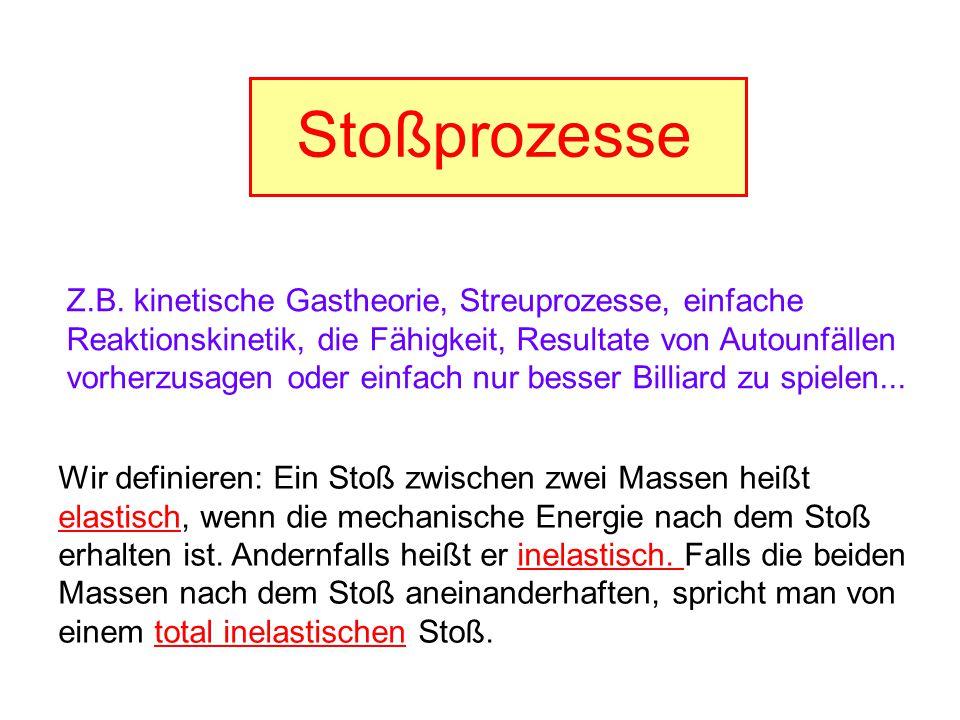 Stoßprozesse Z.B. kinetische Gastheorie, Streuprozesse, einfache ...
