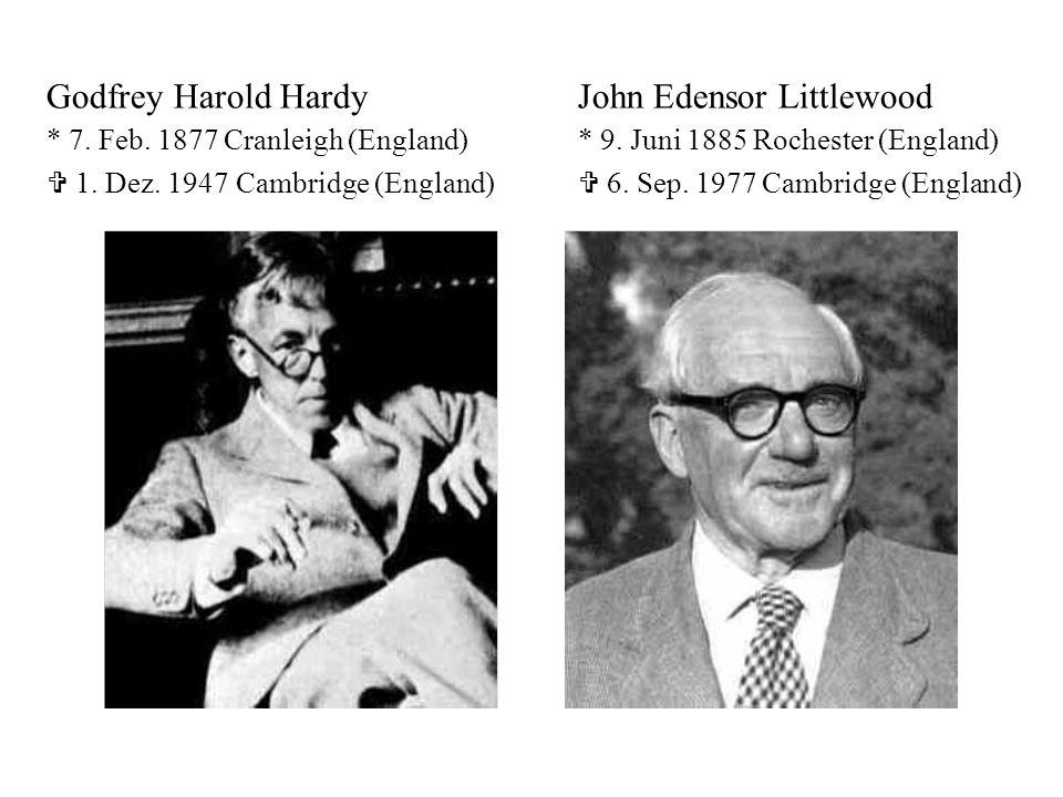 Godfrey Harold Hardy. John Edensor Littlewood. 7. Feb