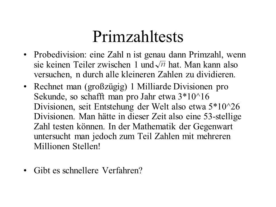 Primzahltests