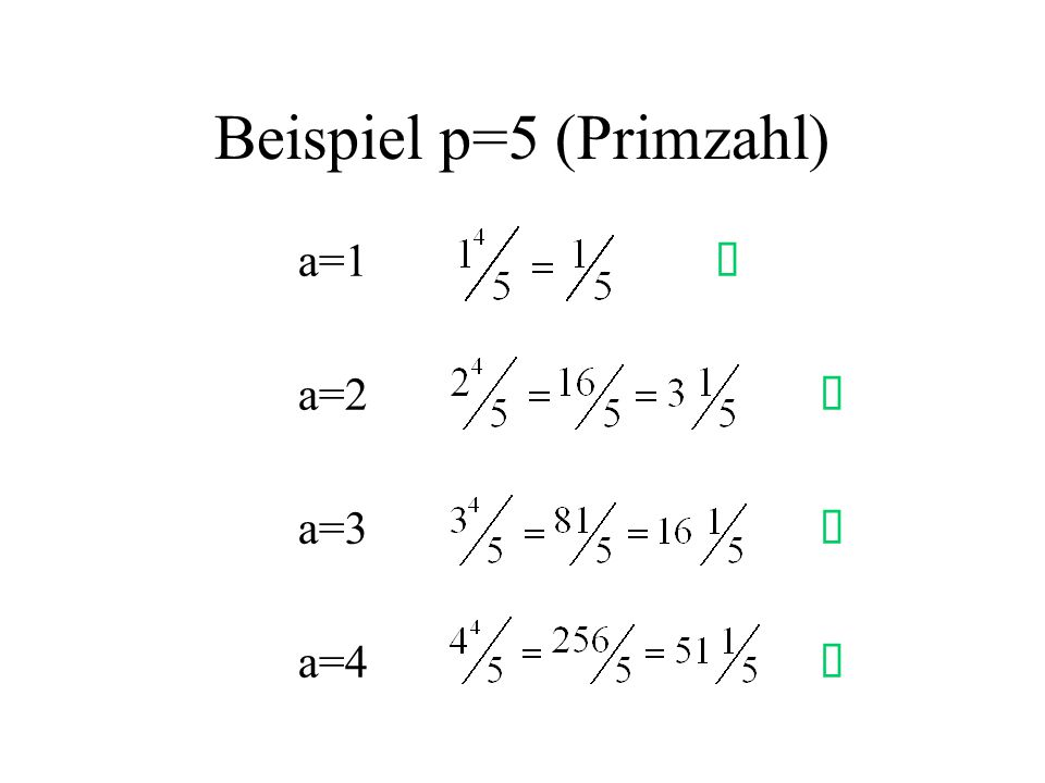 Beispiel p=5 (Primzahl)