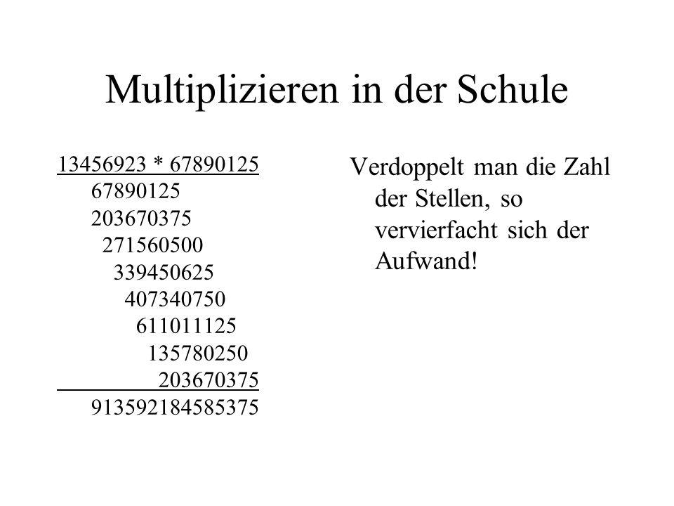 Multiplizieren in der Schule