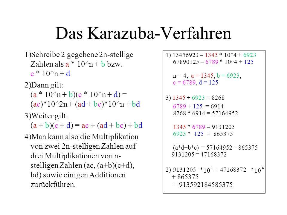 Das Karazuba-Verfahren