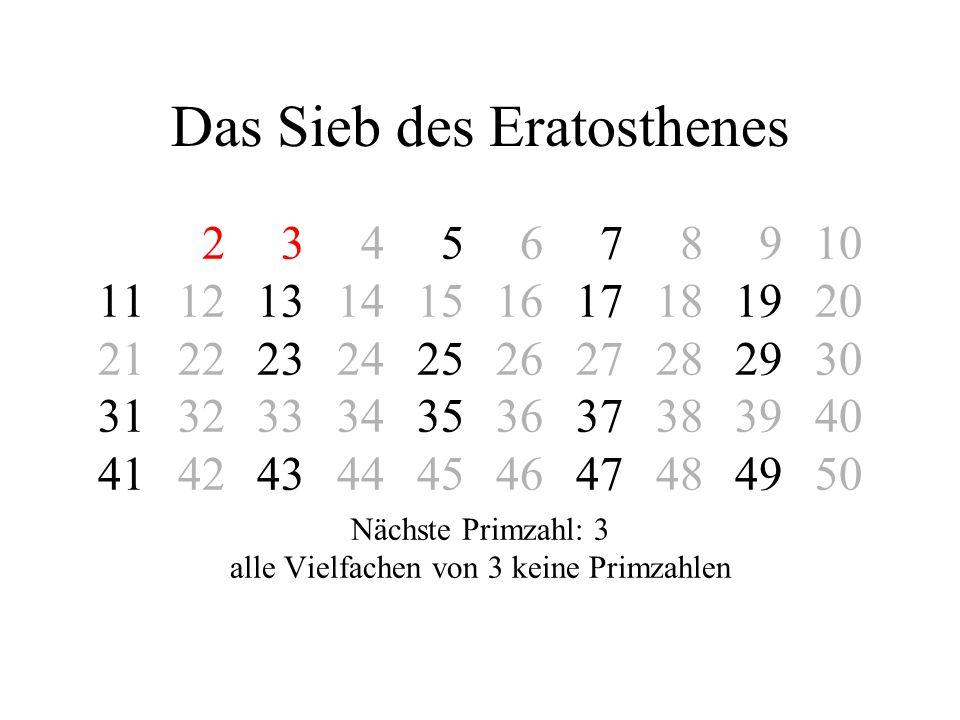Das Sieb des Eratosthenes