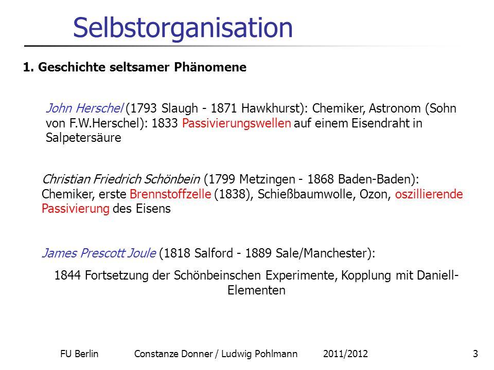 FU Berlin Constanze Donner / Ludwig Pohlmann 2011/2012