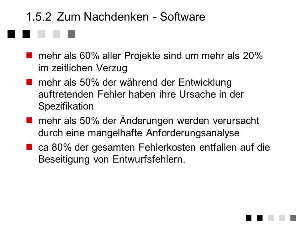 1.5.2 Zum Nachdenken - Software