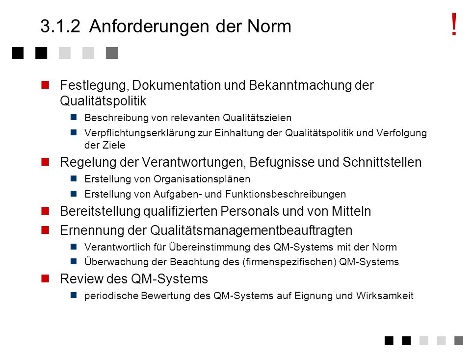 3.1.2 Anforderungen der Norm