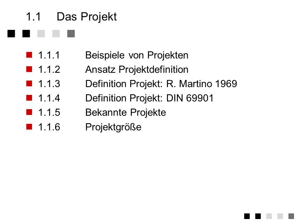 1.1 Das Projekt 1.1.1 Beispiele von Projekten