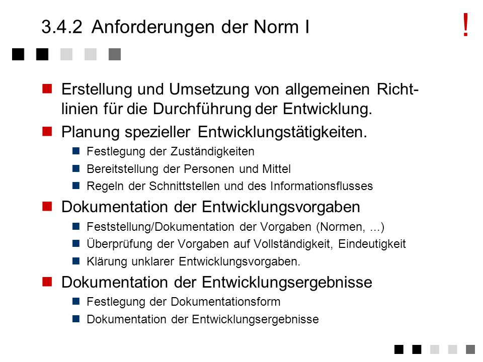 3.4.2 Anforderungen der Norm I