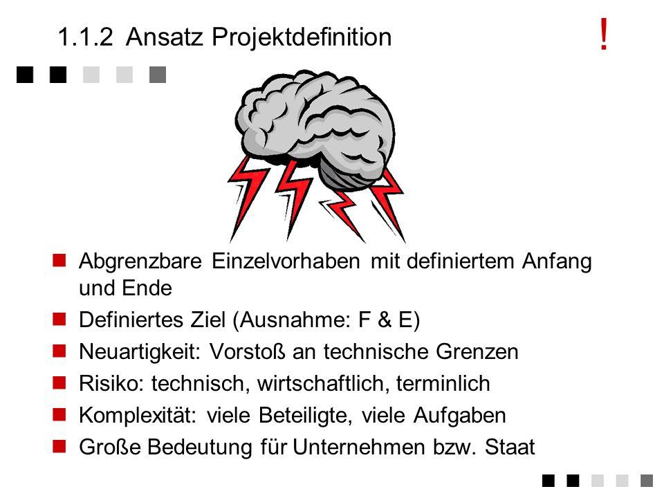 1.1.2 Ansatz Projektdefinition