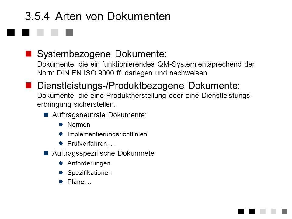 3.5.4 Arten von Dokumenten