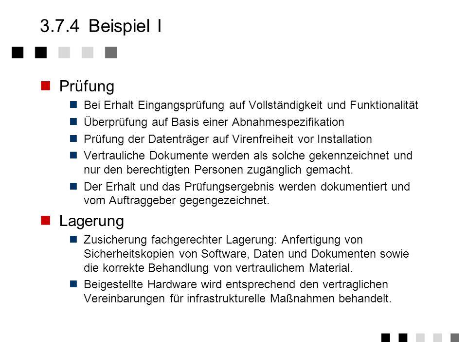3.7.4 Beispiel I Prüfung Lagerung