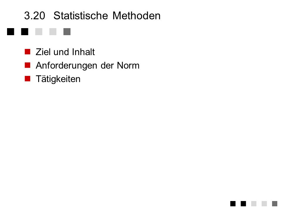 3.20 Statistische Methoden