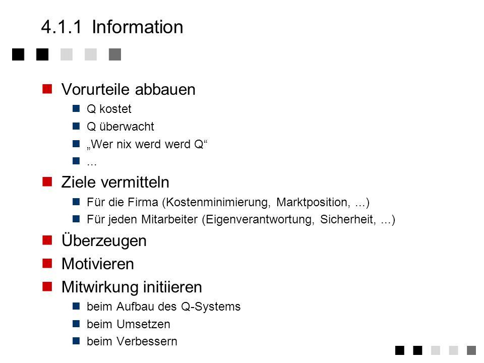 4.1.1 Information Vorurteile abbauen Ziele vermitteln Überzeugen