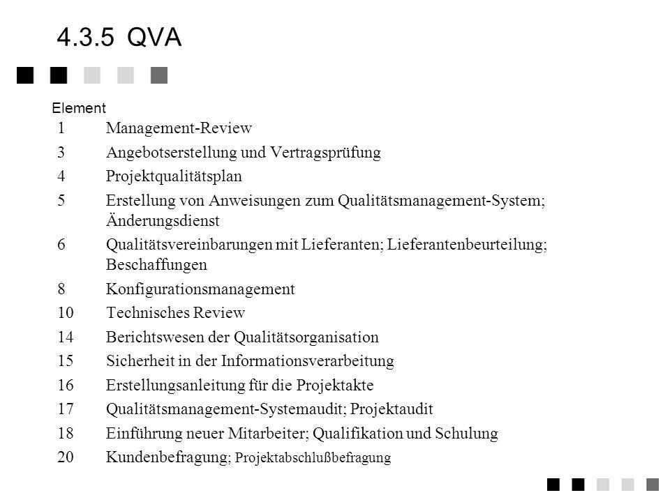 4.3.5 QVA 1 Management-Review 3 Angebotserstellung und Vertragsprüfung