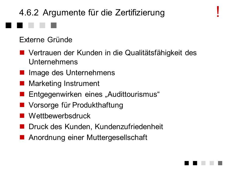 4.6.2 Argumente für die Zertifizierung