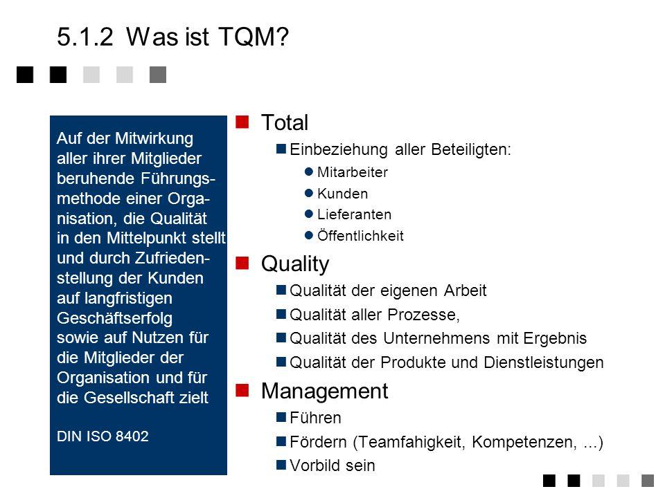 5.1.2 Was ist TQM Total Quality Management Auf der Mitwirkung