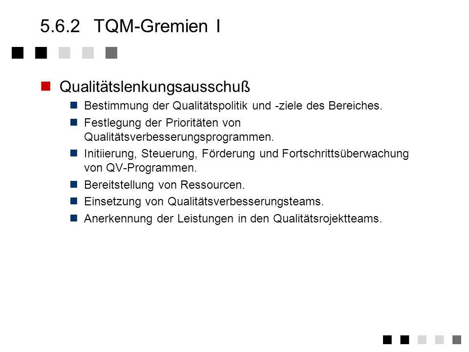5.6.2 TQM-Gremien I Qualitätslenkungsausschuß