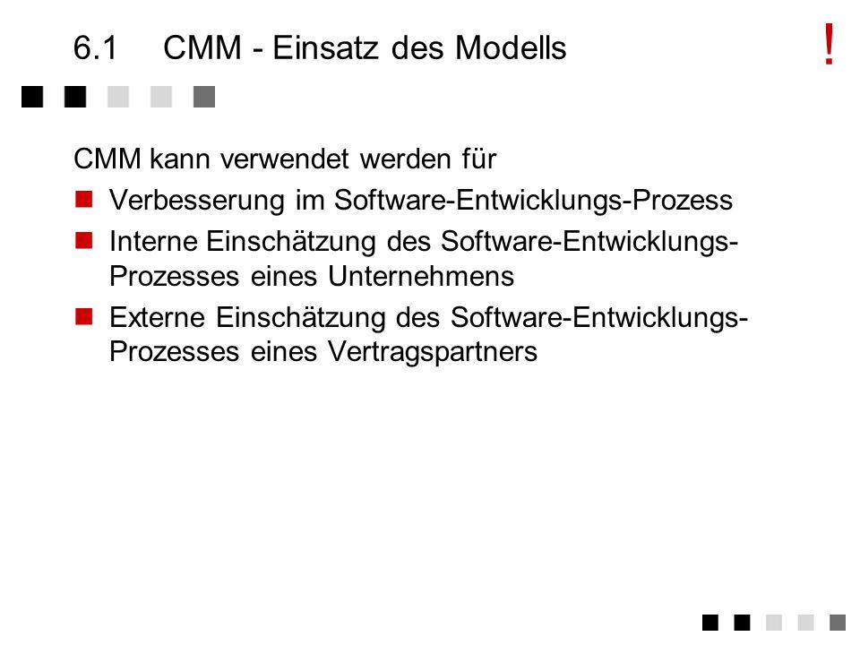 6.1 CMM - Einsatz des Modells