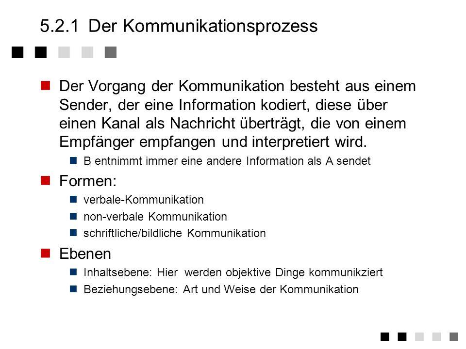 5.2.1 Der Kommunikationsprozess