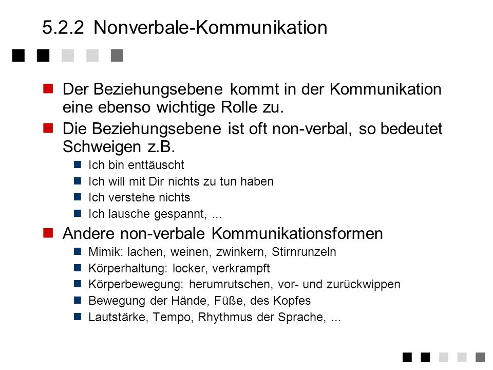 5.2.2 Nonverbale-Kommunikation