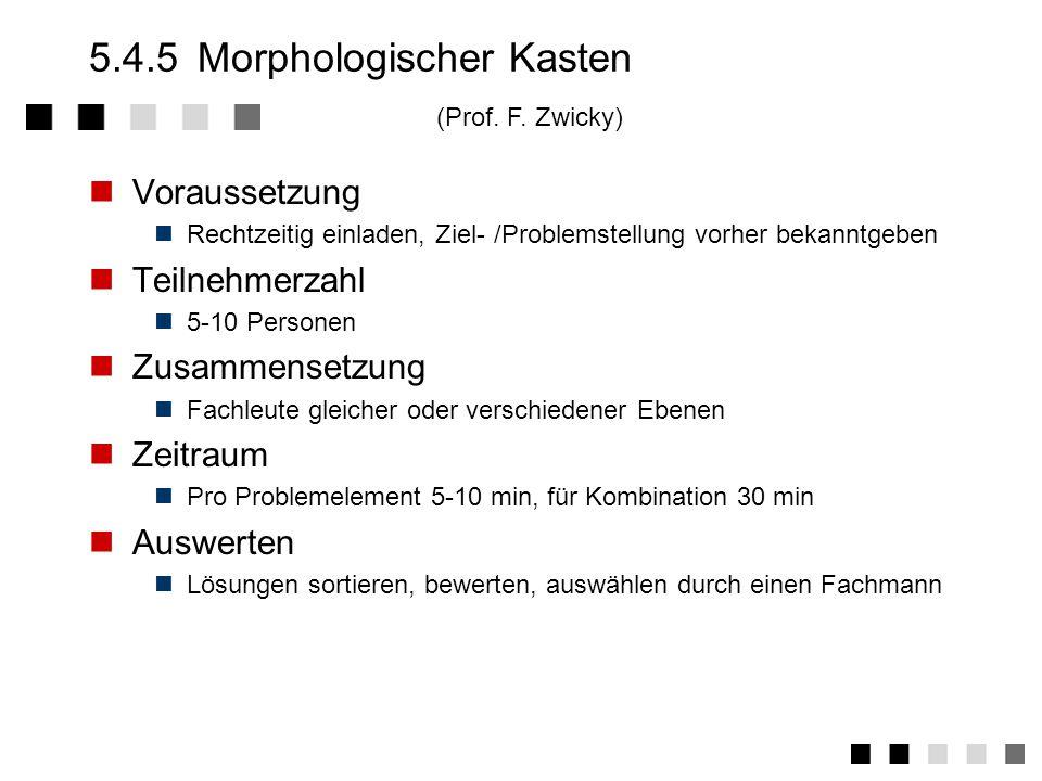 5.4.5 Morphologischer Kasten