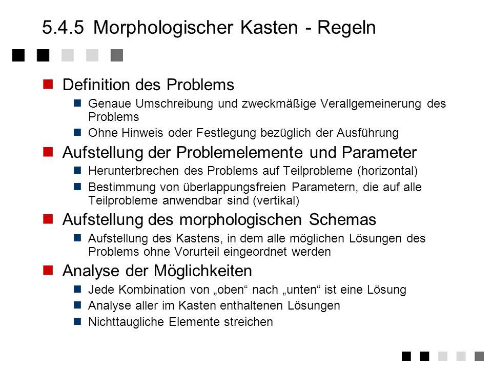 5.4.5 Morphologischer Kasten - Regeln
