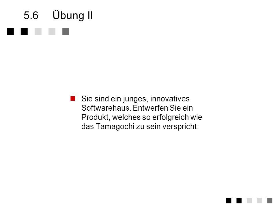5.6 Übung II Sie sind ein junges, innovatives Softwarehaus.