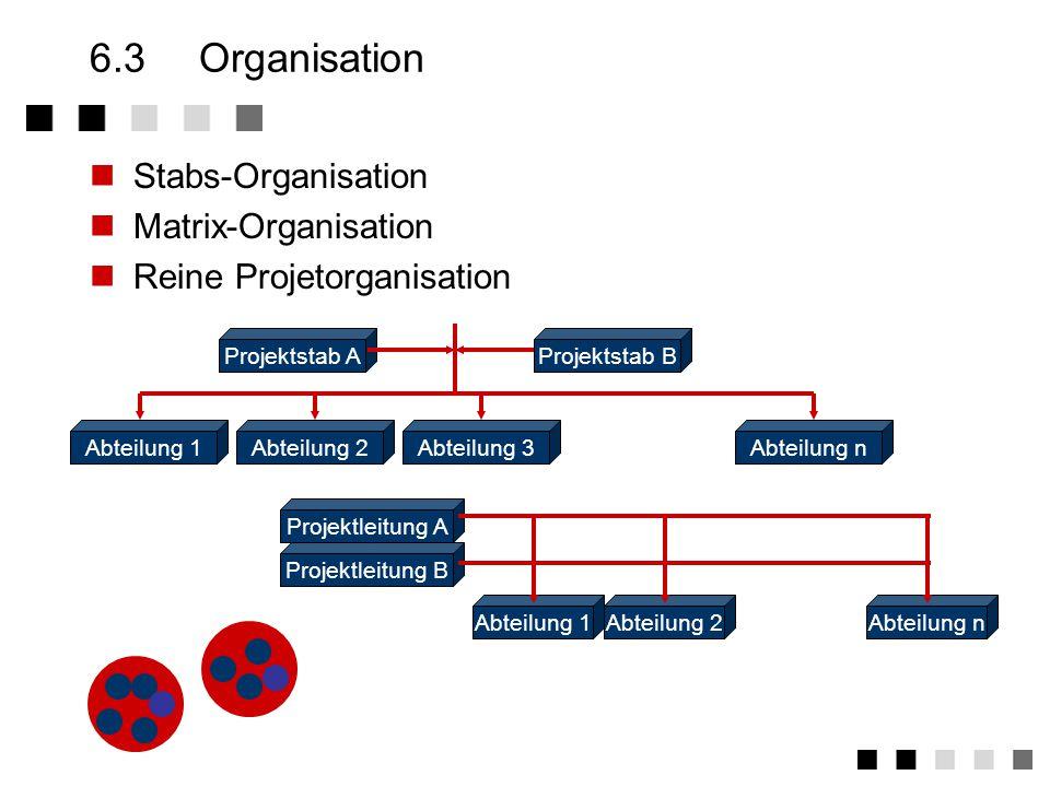 6.3 Organisation Stabs-Organisation Matrix-Organisation