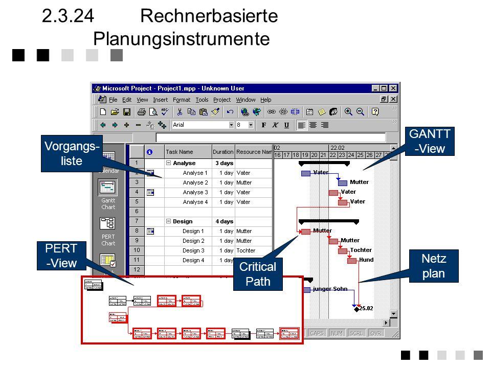 2.3.24 Rechnerbasierte Planungsinstrumente