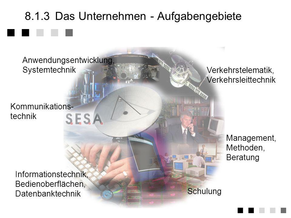 8.1.3 Das Unternehmen - Aufgabengebiete