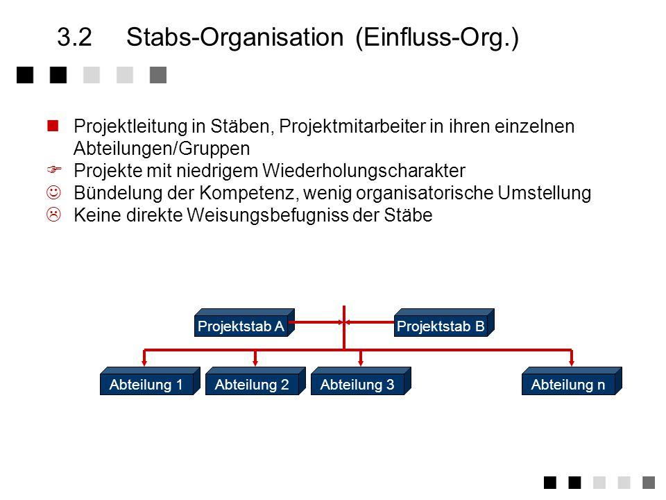 3.2 Stabs-Organisation (Einfluss-Org.)