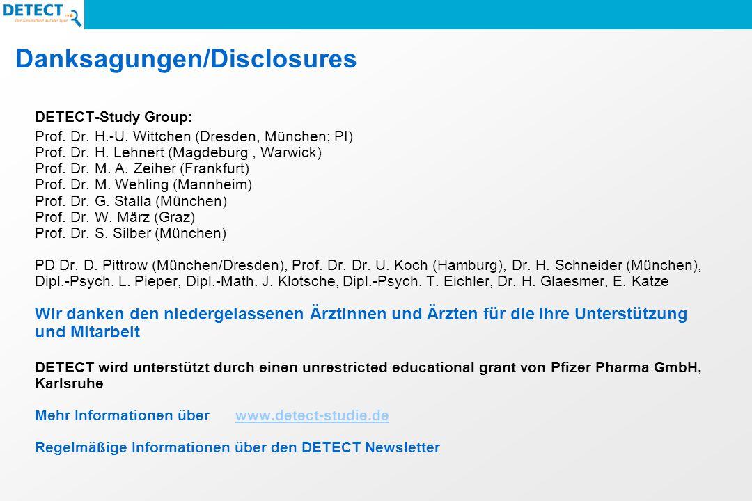 Danksagungen/Disclosures